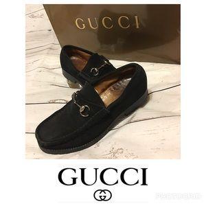 Gucci Men's Suede Loafers Size 7 1/2 D No Damage